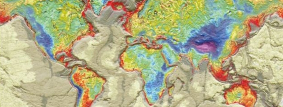 Гравитационна карта показва аномалиите