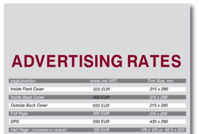 Advertisement rates