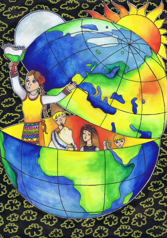 Девети национален конкурс за детска карта на света