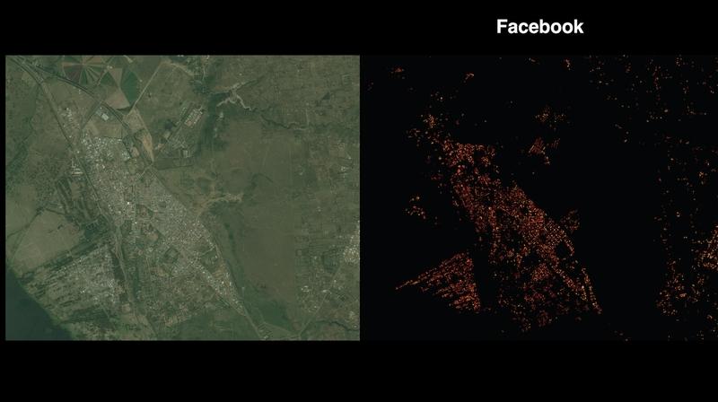 Фейсбук изработва подробни карти на населени места чрез изкуствен интелект