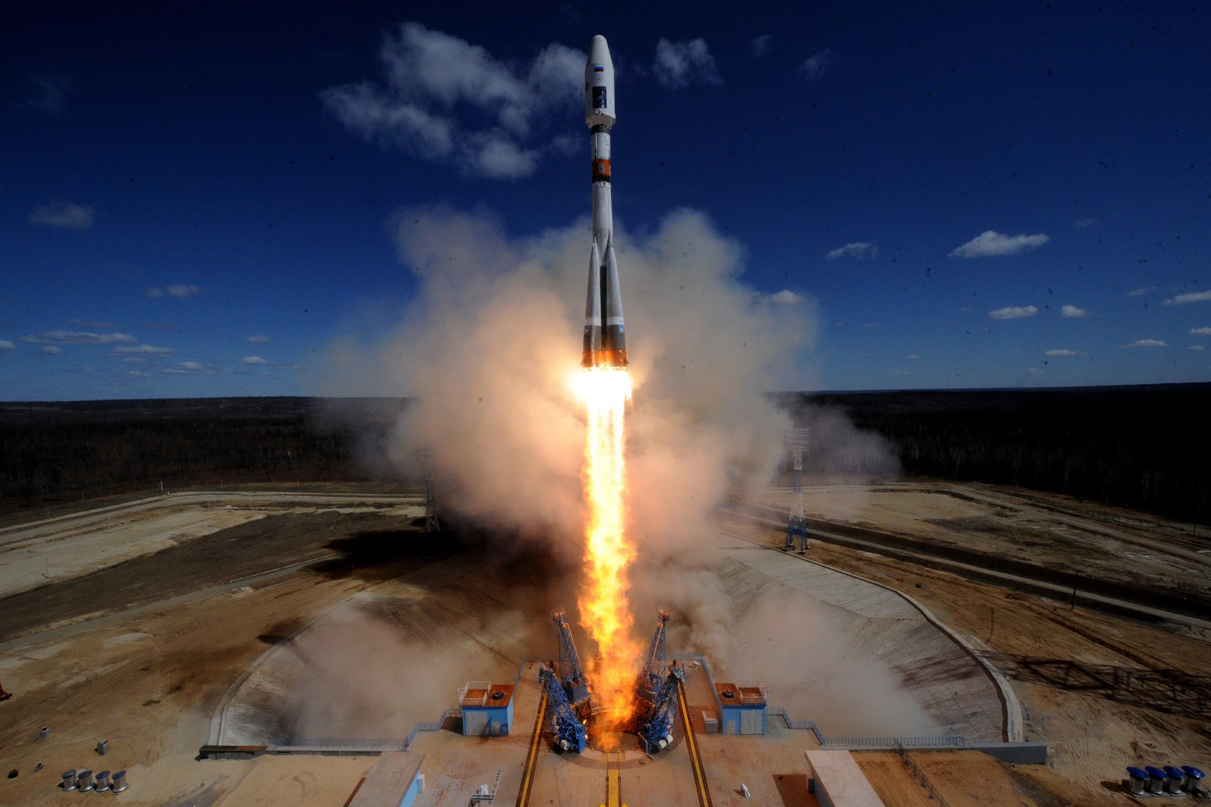 Успешно първо изстрелване на ракета от новия космодрум Восточний