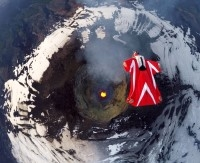 Полет над действащ вулкан
