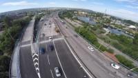 Видео разходка над ремонтирания Аспарухов мост заснета с дрон