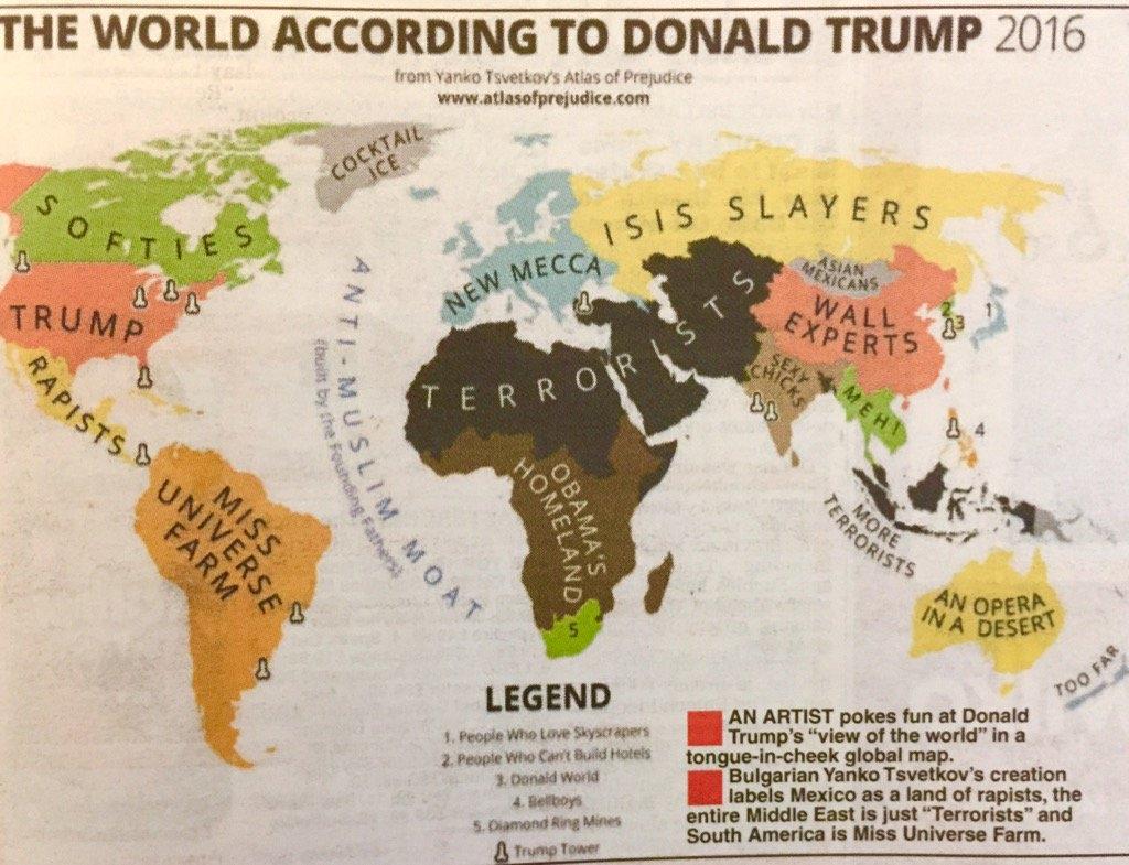 Българска карта за вижданията на Доналд Тръмп