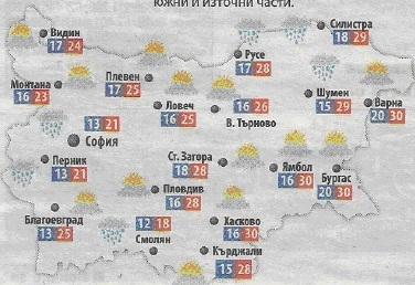 Относно картографирането на прогнозите за времето в периодичния печат в България през 2016 година