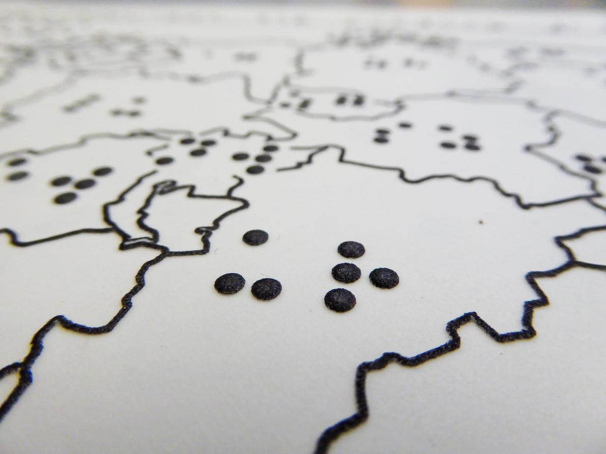 Създадоха карта на Швейцария за слепи