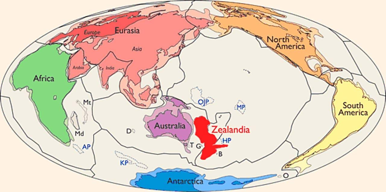 Зеландия – новият континент на картата на света