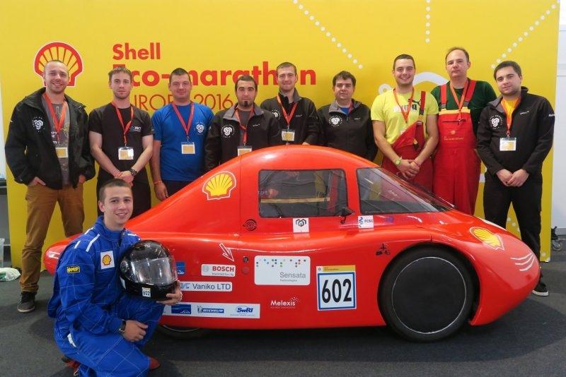 Екоавтомобил на български студенти е трети в международно състезание