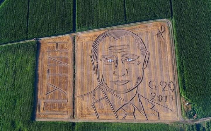Италиански фермер създаде 135-метров портрет на Путин в поле