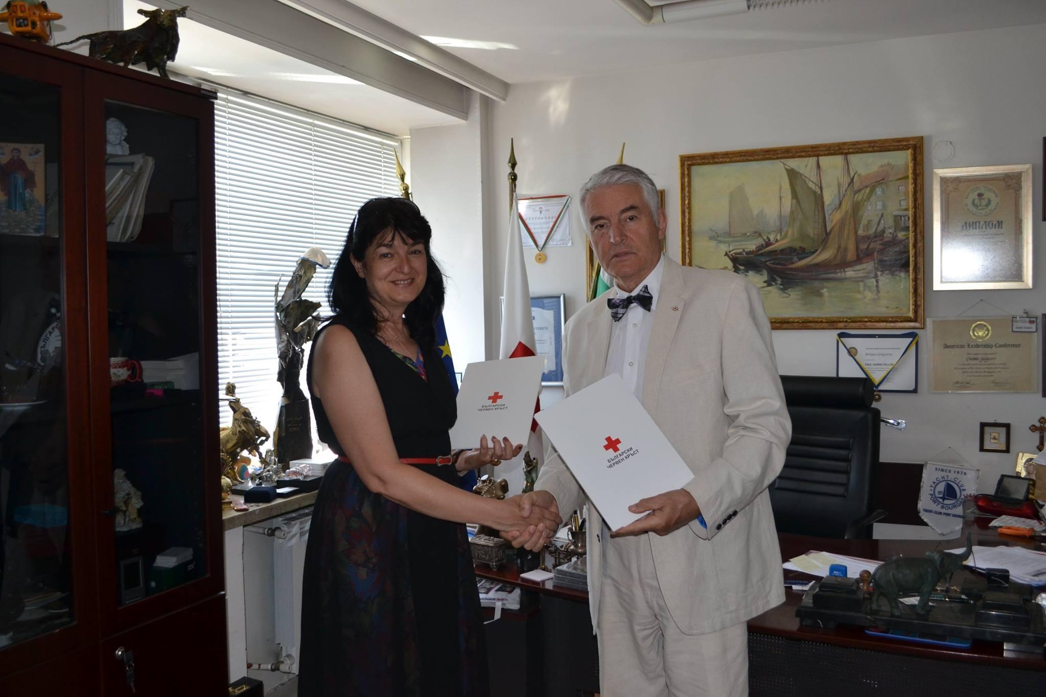 Българската картографска асоциация и Червения кръст подписаха споразумение за сътрудничество