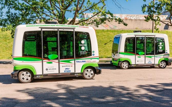 Автономни автобуси превозват пътници в Талин