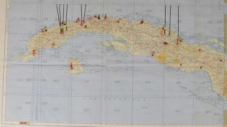 Карта от времето на Кенеди за Карибската криза на търг