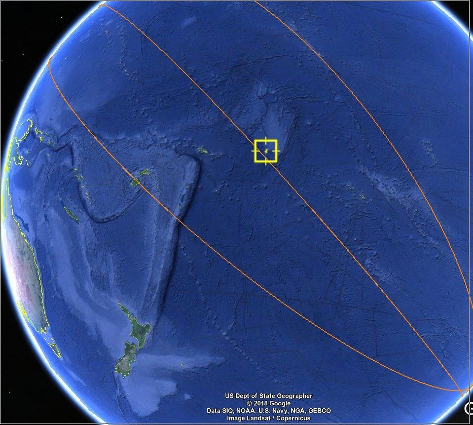 Китайската космическа станция падна над Тихия океан
