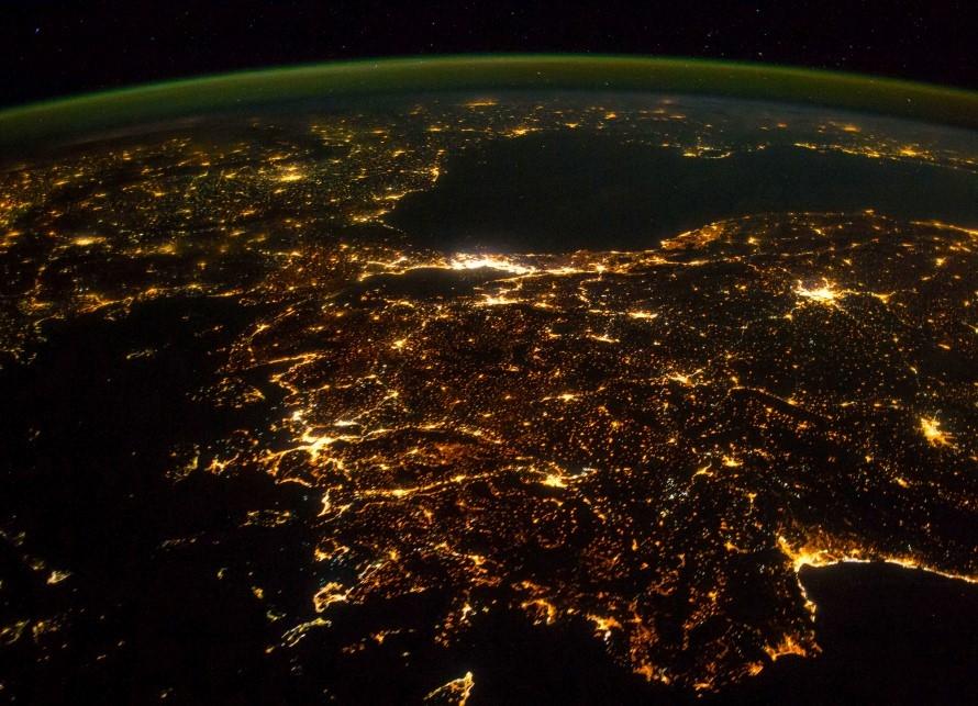 Балканите от космоса