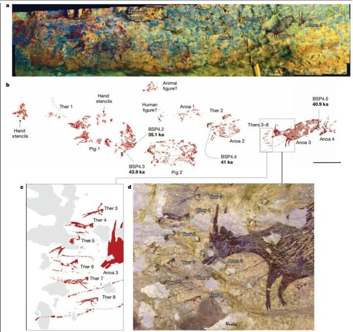 Откриха най-старите скални рисунки