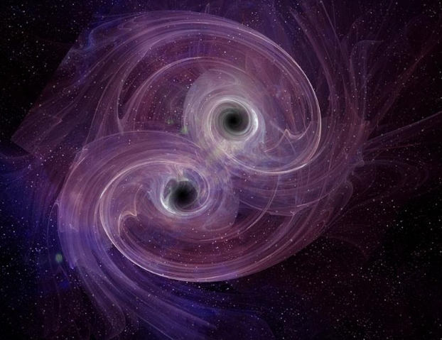 Заснеха сливането на черни дупки