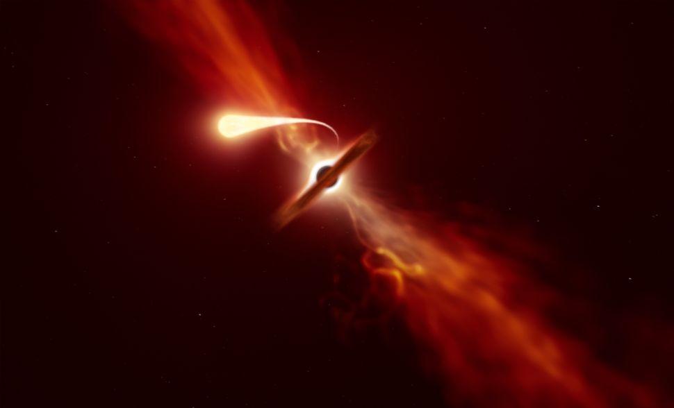 Заснеха как черна дупка поглъща звезда