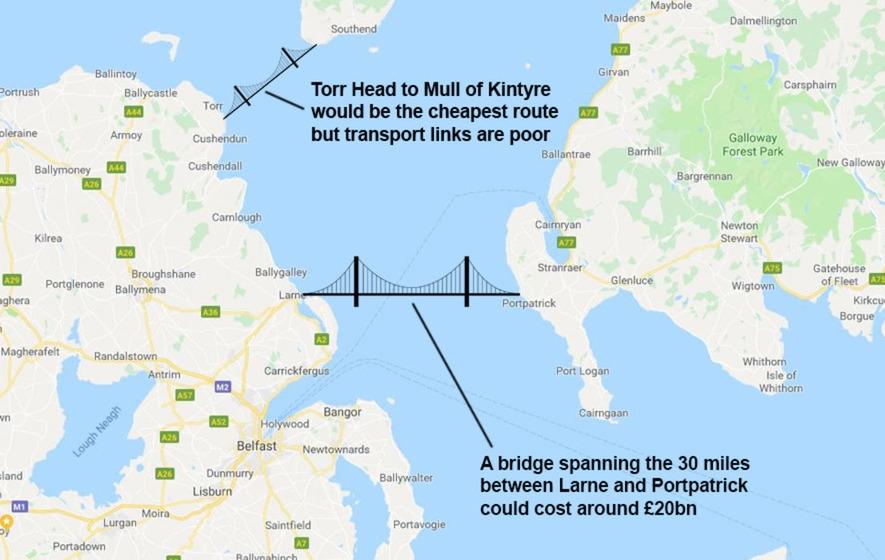 Великобритания ревизира транспортната си инфраструктура – ще строят мост между Шотландия и Северна Ирландия