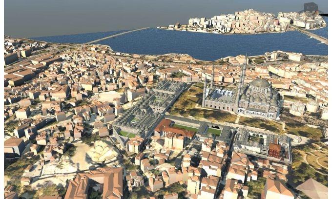 Правят 3D модел на Истанбул