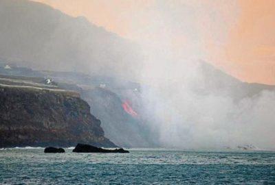 Остров увеличи площта си заради изригнал вулкан